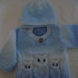 Newborn Owl jumper with Hat