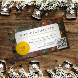 Print At Home Personalised Christmas Gift Voucher 4