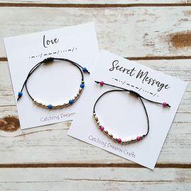 morse code bracelet – love