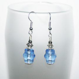 Handmade Blue Beaded Drop Dangle Earrings Several Designs Available Option 5