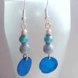 Handmade Blue Beaded Drop Dangle Earrings Several Designs Available Option 6