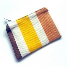 Handmade Summer Stripes Zipped Coin Purse Headphone Pouch 1a