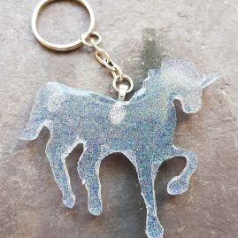 Ice sparkle unicorn key ring