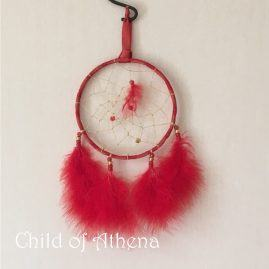dreamcatcher 3 feather red