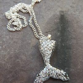 Silver dream mermaid tail pendant