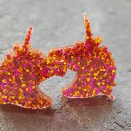 golden fireworks unicorn studs