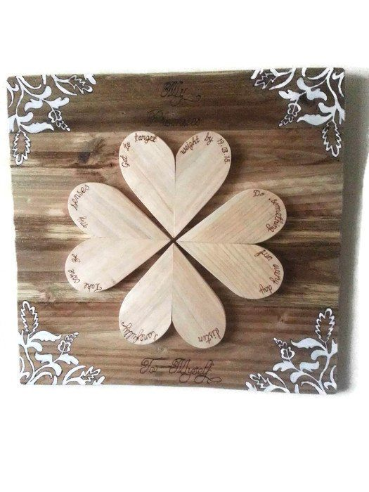 Wall Hanging Wall Art Personalised Wood Heart Decor