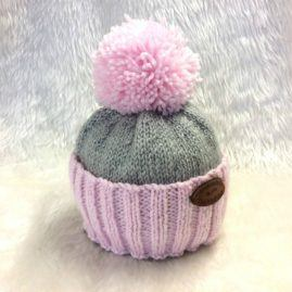Colour Dip Hat Pink Grey