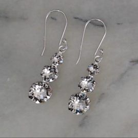 Swarovski crystal, multi stone drop earrings