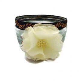 Trinket Glass Jar Floral Design 8 (Medium)