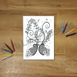 A4 Mindfulness Colouring Poster for Adults – Bursting With Life