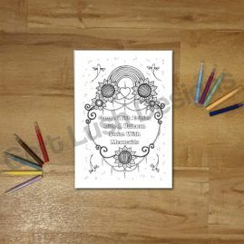A4 Mindfulness Colouring Poster for Adults – Dance With Fairies