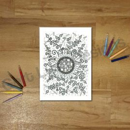 A4 Mindfulness Colouring Poster for Adults – Flower Crazy