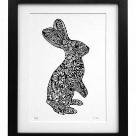 Black frame blak bunny