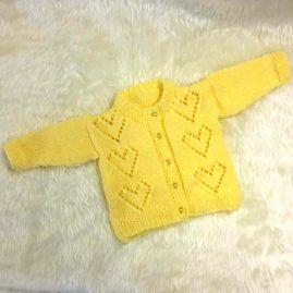 yellow hearts cardigan2