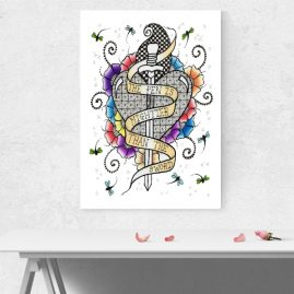 A4 Print Of My Doodle Artwork – The Pen Is Mightier Than The Sword – Unframed