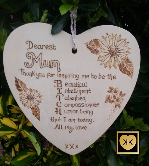 Cheeky Wooden Plaque For Mum Mother Etc Personalised Pyrography Gift