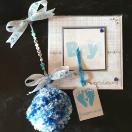 Pram charm gift set – blue option main image
