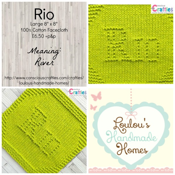 Knitted Rio Bespoke Facecloth - Any Colour
