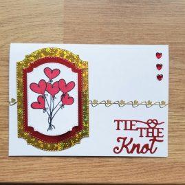 Handmade Bunch of hearts card – main image