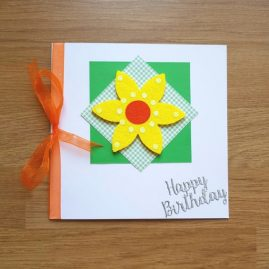 Handmade summer flower birthday card – main images