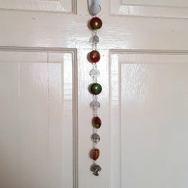 Handmade Wirework Autumn Colours Beaded Sun Catcher With Tree Charms 1a