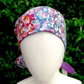 Bright vintage headwrap front