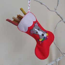 greyhound xmas stocking