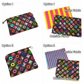 Handmade Retro Vinyl Records Coin Purse Zipped Pouch Earphones Pouch 1a