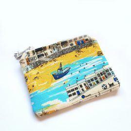 Beside The Seaside Handmade Zipped Pouch Coin Purse Earphone Pouch 1a