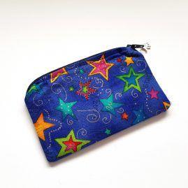Colourful Stars Handmade Zipped Pouch Coin Purse Earphone Pouch 1a