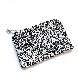 Filigree Pattern Handmade Zipped Pouch Coin Purse Earphone Pouch 1a
