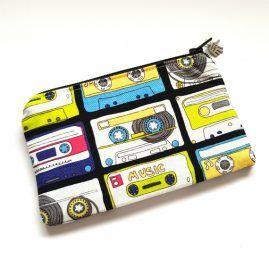 Handmade Funky Music Cassette Zipped Pouch Coin Purse Earphone Pouch 1a
