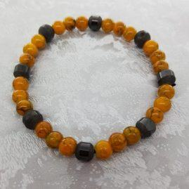 Mustard and haematite stretchy