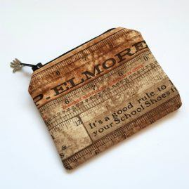 Vintage Rulers Handmade Zipped Pouch Coin Purse Earphone Pouch 1a
