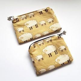 Woolly Sheep Handmade Zipped Pouch Coin Purse Earphone Pouch 1a