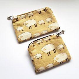 Woolly Sheep Handmade Zipped Pouch Coin Purse Earphone Pouch 1a