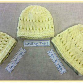 lemon eyelet hat set