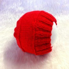 red sparkly beanie1