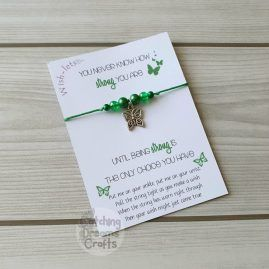 strong wish-let wish bracelet – green
