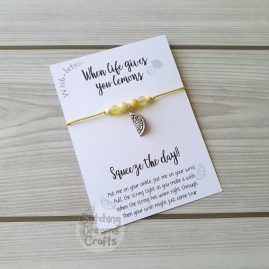 when life gives you lemons wish-let wish bracelet