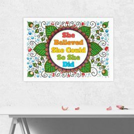 A4 Print Of My Doodle Artwork With inspirational Motivational Quote 3 – Unframed