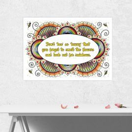 A4 Print Of My Original Artwork With Inspirational Positive Quote 2 – Unframed