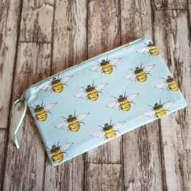 Handmade Bumble Bee Zipper Pouch Pencil Case Cosmetics Bag 1a