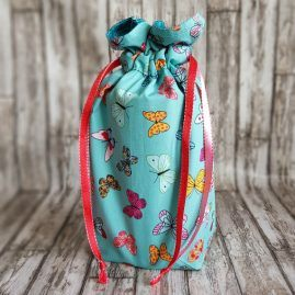 Handmade Butterfly Eco-Friendly Reusable Drawstring Gift Storage Bag 1a