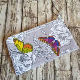 Handmade Butterfly Zip Pouch Pencil Case Cosmetics Bag Makeup Pouch 2 – Option 1a