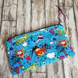 Handmade Comic Strip Zipper Pouch Pencil Case Cosmetics Bag 1a