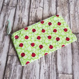 Handmade OOAK Ladybird Zipper Pouch Pencil Case Cosmetics Bag 1a