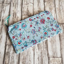Handmade Swirly Floral Zipper Pouch Pencil Case Cosmetics Bag 1a
