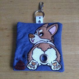 corgi poo bag roll holder